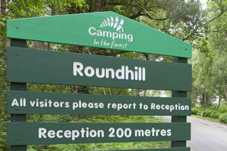 Roundhill-Campsite-New-Forest-Sign