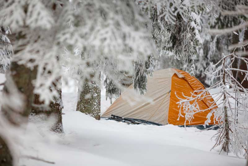 Cold Weather Camping on UK Club Site