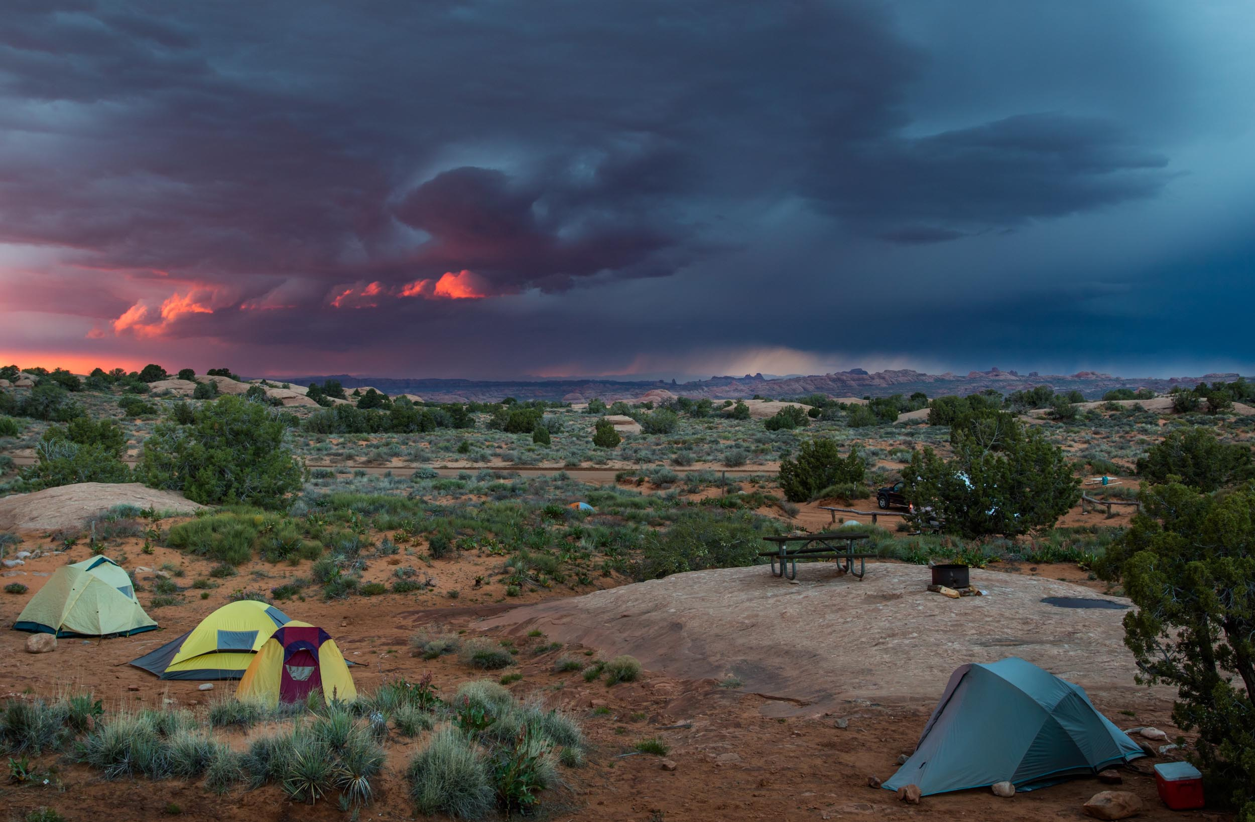 Tents at Arches National Park