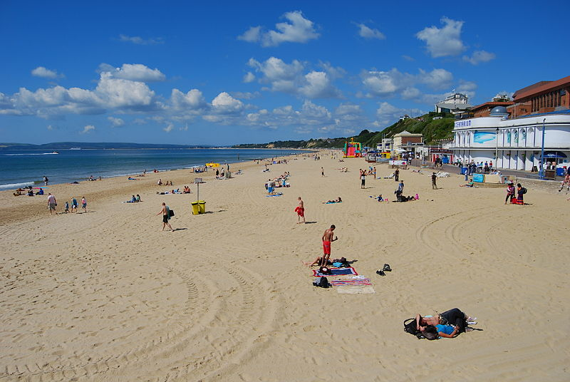 bournemouth beach on sunny day