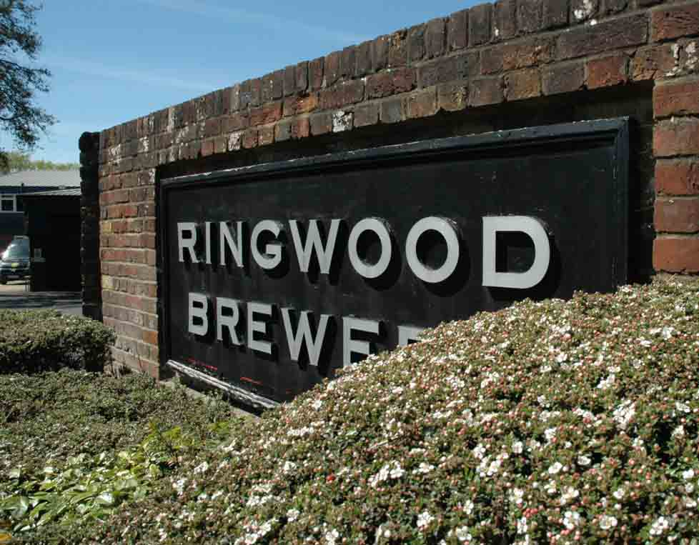 sign outside of ringwood brewery