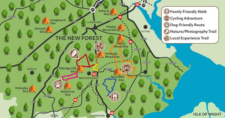 New Forest Campsites Map Map your Adventure with Camping in the Forest
