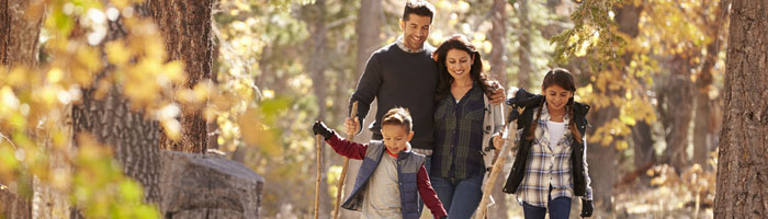 family-walk-in-the-woods (Shutterstock, Monkey Business Images)
