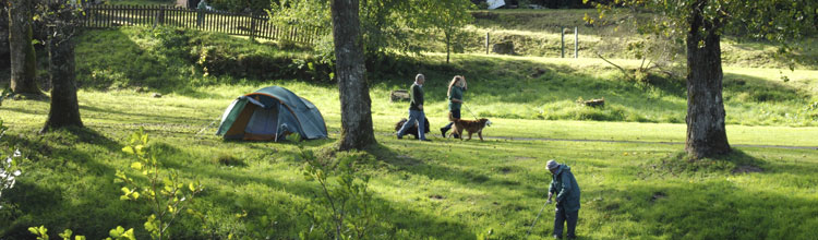 couple-walking-through-cobleland-campsite