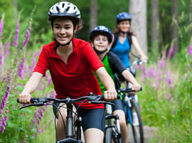 family-cycling-through-woodland (Shutterstock, Jacek Chabraszewski)