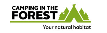 Camping in the forest logo