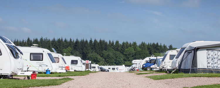Motorhome and Caravan Storage at Bracelands campsite