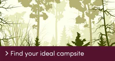 Find your ideal campsite - call to action