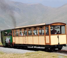 snowdon mountain railway carriage