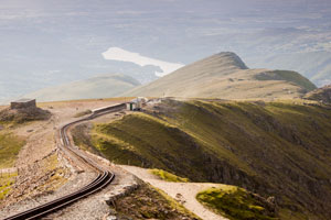 Snowdon mountain train track to Llanberis village (shutterstock, Jow Dunckley)